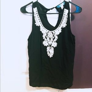 Francesca's L Embroidered Tank Top